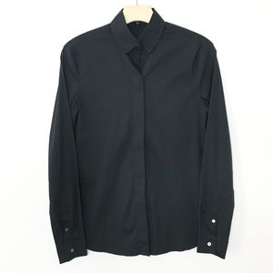 Standard James Perse Black Button Up Blouse Top